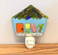 Beach fused glass nightlights