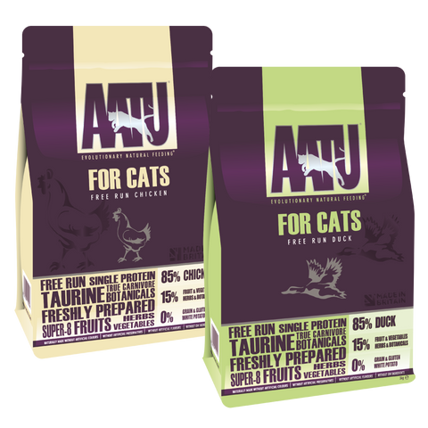 AATU for cats bundle Chicken & duck dry food