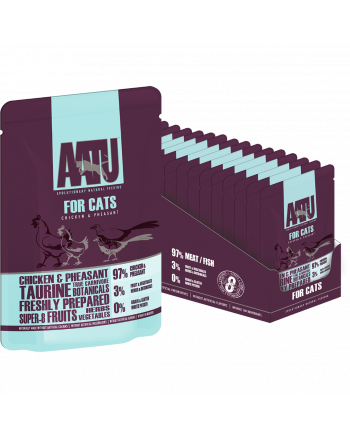 AATU for cats wet pouch chicken & pheasant flavour