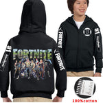 Fortnite Print Long Sleeve Zipper Sweater for Kids