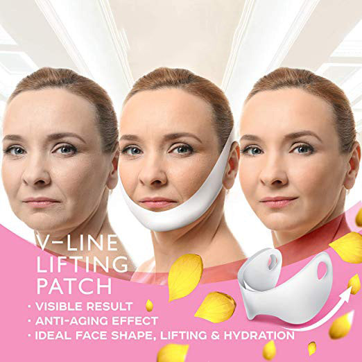 5pcs V-Shaped Slimming Contour Facial Mask  Lifting Firming Fat Burn Double Chin Vline