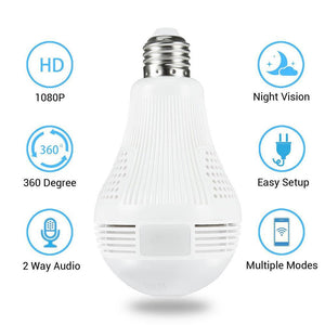 360° Smart  Bulb Panoramic IP Camera(Voice intercom)