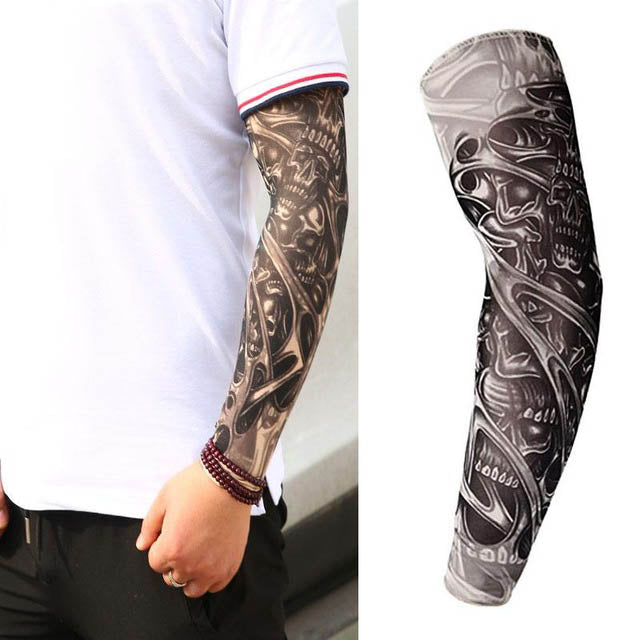 Anti-UV Comfortable Fit Arts Tattoo Sleeves Unisex Sunscreen
