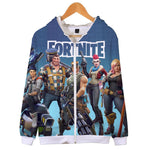 Fortnite Stylish Print Thick Hooded Coat for Kid and Adult
