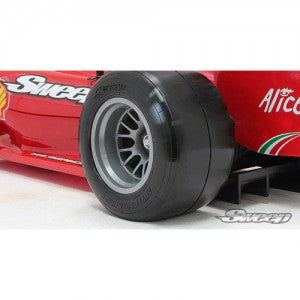Sweep 1/10 Formula1 rear premount tires super soft (2 tires with inserts and wheels ) SW-F1RSSP
