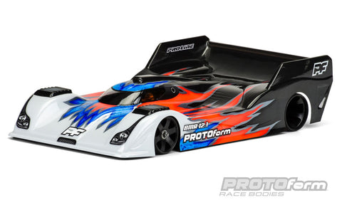 BMR-12.1 light Weight Clear Body for 1:12 On-Road