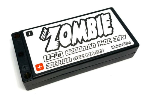 Team Zombie 1/12 scale on-road's battery-The all new 8200mah 140C 3.7V 2021 SPEC