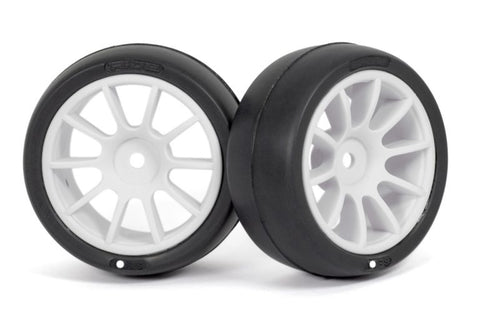 1/10 M-Chassis 60mm Preglued Tires Sc-28M