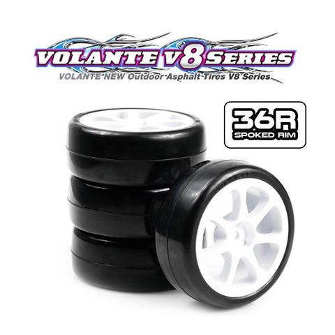 VOLANTE V8T-PG36R REVOLUTION 36R PRE-GLUED PREMIUM TYRE SET (SPOKE RIM)