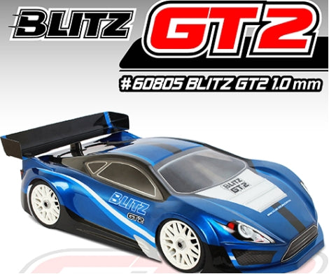 Blitz 1/8 GT2 On Road Touring 1.0mm Clear Body Shell W/ Wing Set #60805-10