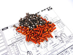 T4'17 Titanium & Alum Hex Socket Screw Set	[Orange]