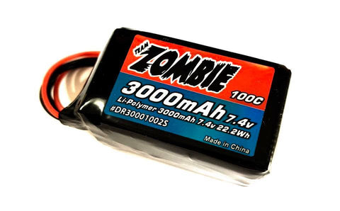 TEAM ZOMBIE 3000 LIPO 7.4V HUMP PACK DR30002S