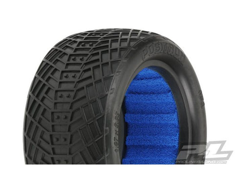 PROLINE POSITRON 2.2IN MC (CLAY) REAR BUGGY TYRE 2PCS - PR8256-17