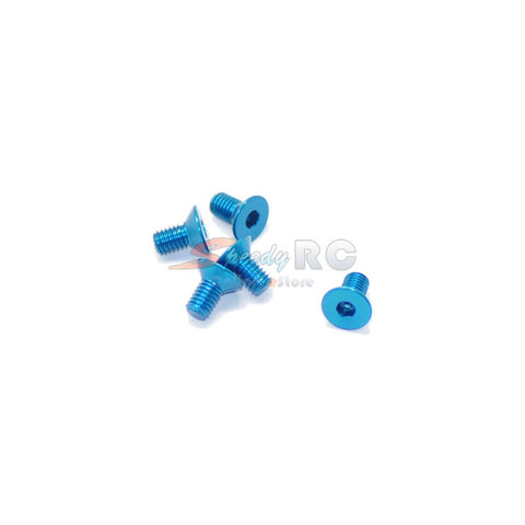ArrowMax Alu Screw allen countersunk M3x6 Blue AM-14CS3006-B
