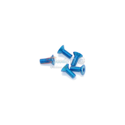 ArrowMax Alu Screw allen countersunk M3x8 Blue AM-14CS3008-B