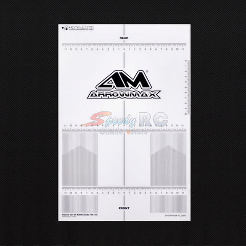 ArrowMax Plastic Set-up Board Decal for 1:10 AM-170074