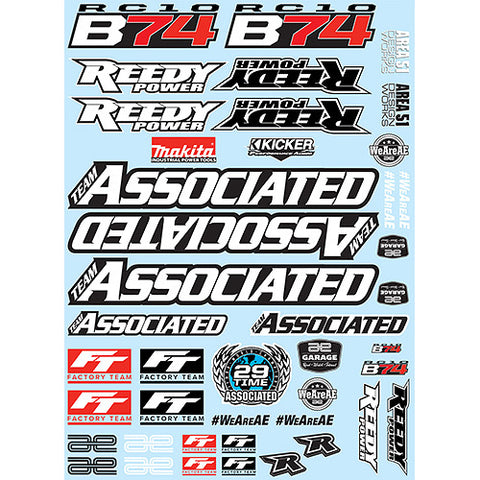 Team associated RC10B74 DECAL SHEET ASC92109