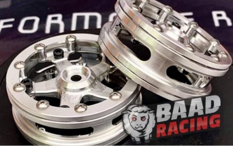 Front Bead Lock Drag Wheels BAAD RACING Billet Bead Lock
