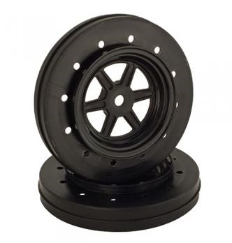 DE Racing Front Gambler No-Prep Drag Racing Wheels (black) DER-GDF-AB