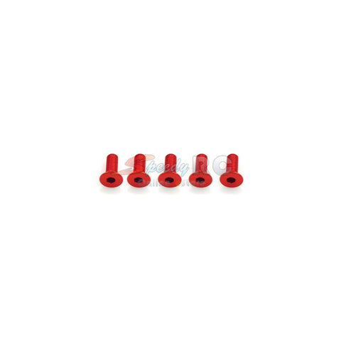 Hiro Seiko Alloy Hex Socket Flat Head Screw M3x8 [Red] 69648