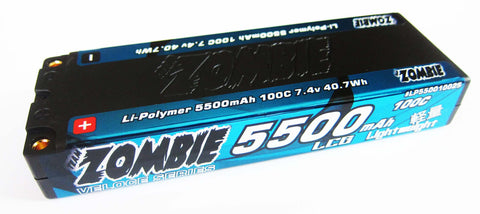 Team Zombie Hardcase 2S LiPo Battery 7.4V 5500mAh 100C