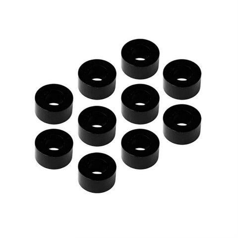 MR33 Aluminum Shim 3.0 x 6.0 x 3.0mm - Black (10 pcs)  MR33-AS-BK-30