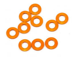 MR33 Aluminum Shim 3.0 x 6.0 x 0.5mm - Orange (10 pcs) MR33-AS-O-05