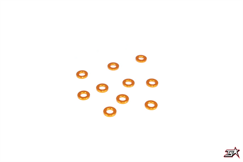MR33 Aluminum Shim 3.0 x 6.0 x 1.0mm - Orange (10 pcs)  MR33-AS-O-10