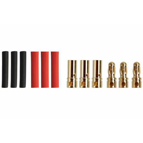 MR33 Brushless Motor Connector Set 3.5mm Male & Female (3 + 3)  MR33-BMC