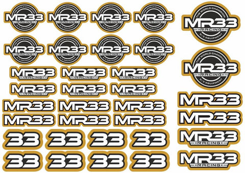 MR33 Decal Sheet - Gold  MR33-DS-G