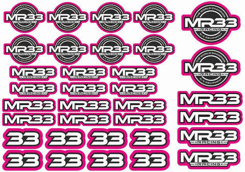 MR33 Decal Sheet -Purple  MR33-DS-P