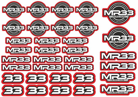 MR33 Decal Sheet -Red MR33-DS-R