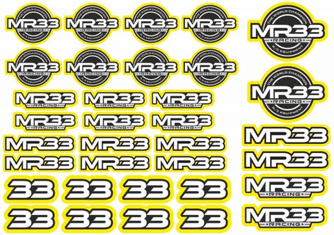MR33 Decal Sheet -Yellow  MR33-DS-Y