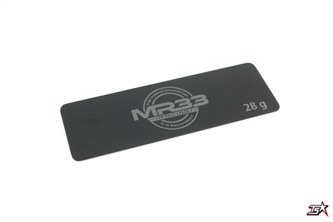 MR33 28g Steel Battery Weight 0.6mm Long Black  MR33-STW-28G
