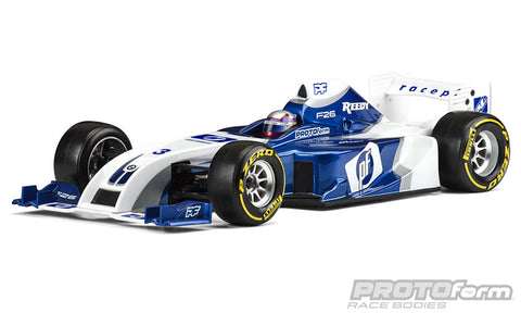 F26 Clear Body for 1:10 Formula 1