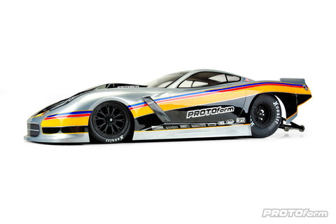 PROTOFORM CHEVROLET CORVETTE C7 PRO-MOD CLEAR BODY FOR SLASH 2WD DRAG CAR - PR1571-40