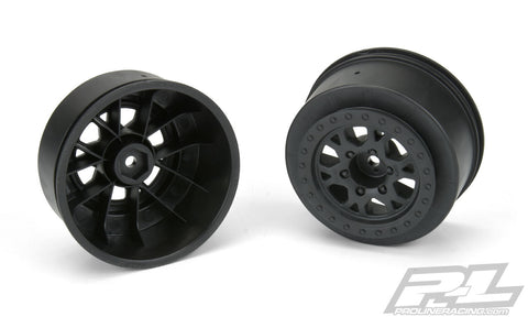 "IMPULSE 2.2""/3.0"" BLACK WHEELS (2) FOR SLASH® 2WD REAR & SLASH® 4X4 FRONT OR REAR - PR2772-03"