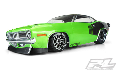PROLINE 1972 Plymouth Barracuda Clear Body for Slash® 2wd Drag Car & AE DR10 - PR3550-00