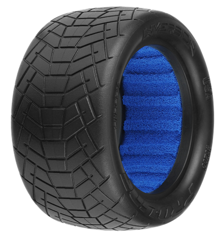 INVERSION 2.2 M4 (SUPER SOFT) INDOOR BUGGY REAR TIRES (2) (WITH CLOSED CELL FOAM) PR8266-03