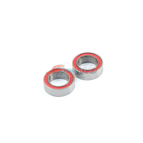 Radtec 5x8x2.5mm Competition Grade Ceramic Ball Bearing 2 pcs Red Rubber Seal