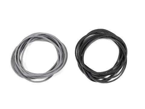 SMJ1158: CARBURETOR RETURN RUBBER BAND (Black/Gray/each 10pcs)
