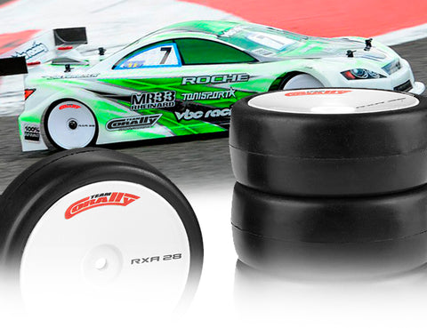 Team Corally - Attack RXA V2 rubber tires - 1/10 EP touring - 36 shore - Asphalt - 4 pcs C-14753-36