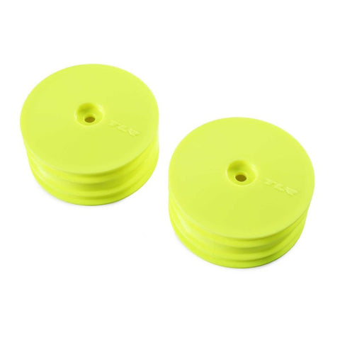 TLR Front Wheel, Yellow, 2pcs, 22X-4 TLR43021