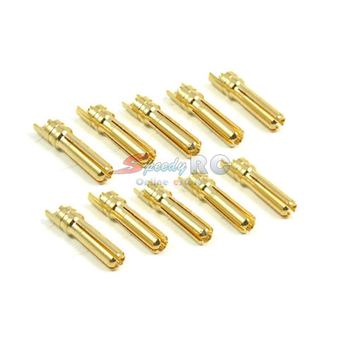 Yeah Racing 4mm High Current Connector Set (Bullet Plug Male x10) #BC-0010