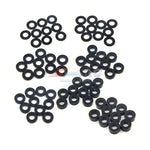 Yeah Racing Aluminum M3 Flat Washer 0.25 / 0.5 / 1 / 1.5 / 2 / 2.5 / 3mm 10pcs Set Black YA-0390BK