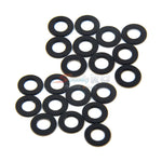 Yeah Racing Aluminum M3 Flat Washer 0.5mm 20pcs Black YA-0392BK