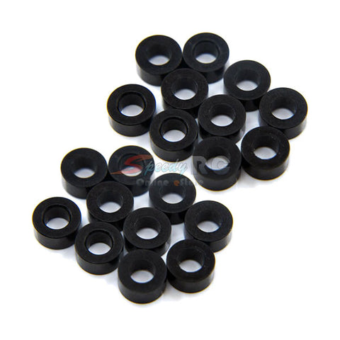 Yeah Racing Aluminum M3 Flat Washer 3mm 20pcs Black YA-0397BK