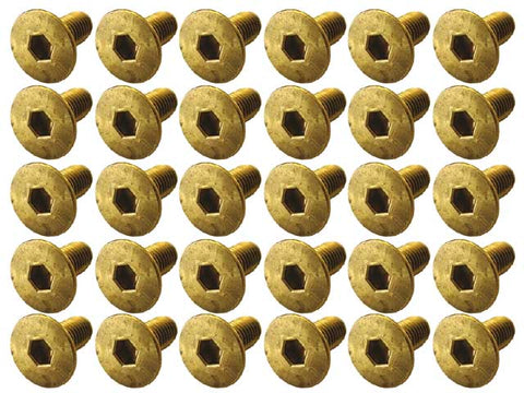 XENON BRS-0308 Brass Hex Dish Screw M3 x 8mm 30 Pcs