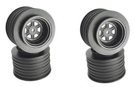 DER-GSR-AB  DE Racing Gambler Rear Late Model Wheels (BLACK) DER-GSR-AB