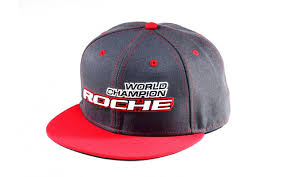 Roche - World Champion Commemorate Hat, Flat Bill, Gray/Red (920004) Roche World Champion Commemorate hat. Flat bill type. Raised embroidery letter on front middle of pr..